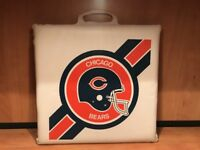 Vintage 80's Chicago BEARS Stadium Bleacher Cushion Seat