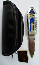 FRANKLIN MINT MONSTERS COLLECTION THE MUMMY FOLDING DAGGER KNIFE W/POUCH