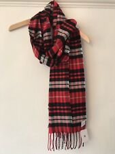 Red Tartan Scarf Urban Outfitters Brand New Bnwt