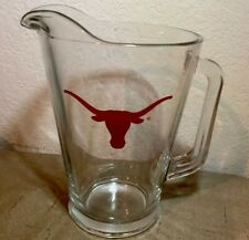 Texas Longhorns Glass Beer Drink Pitcher Heavy Barware