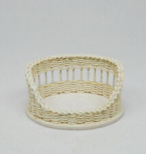 Vintage McCurley Wicker Dog Bed Dollhouse Miniature 1:12