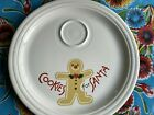 Homer Laughlin Fiesta Ware Cookies For Santa Plate Christmas 2000 For Sale