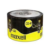 50 CDR MAXELL BLANK DISCS CD-R RECORDABLE CD 80 MINS 52X 700MB