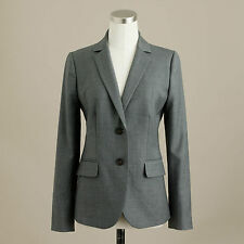 NWT J. Crew Women 1035 two-button jacket in Super 120s wool Grey 27690 6T $248