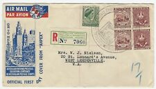 1950 ANPEX Official FDC - Block Of 4 - 2½d + add post 1½d - Registered - Airmail