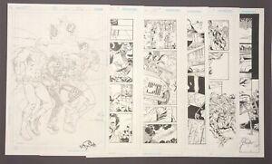 DC Comics Secret Six Original Comic Book Art Six Page Lot Nicola Scott, B Walker