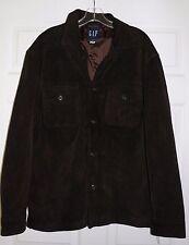 Gap Dark Brown Suede Leather Shirt Jak jacket Medium