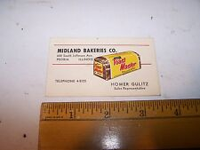 Vintage MIDLAND BAKERIES Toast Master Bread PEORIA ILLINOIS Homer Gulitz Card