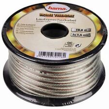Hama 10m Speaker Cable Wire Car Home Stereo HiFi/Car Audio 2x0.75mm