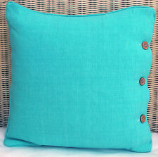 SCATTER CUSHION COVER 40 X 40 'PALE AQUA' COUCH, THROW CUSHION COVER