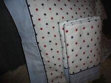 TOMMY HILFIGER BLUE RED STARS STRIPES (2PC) TWIN SHEET SET RED BLUE BOYS