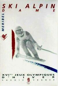 Original vintage poster OLYMPIC GAMES ALBERTVILLE 1992 LADIES