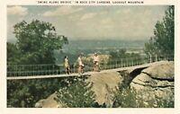 Postcard Swing Along Bridge Rock City Gardens Tennessee