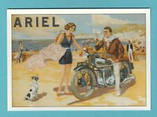 ADVERTISING  -  ROBERT  OPIE  POSTCARD  -  ARIEL  MOTORCYCLE