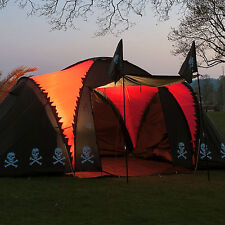 skandika Isla de Muerta Pirate Tent 6 Person Group Family Black New Release