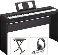 Yamaha P45 B Digital E-Piano Klavier mit L 85 Holzgestell + Sitz Bank Kopfhörer