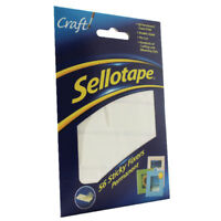 Sellotape Sticky Fixers Pk 56 Double Sided Permanent Foam Pads Same Day Dispatch