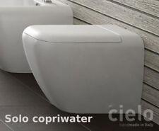 Copriwater coprivaso bianco per sanitari bagno Shui pavimento e sospesi di Cielo