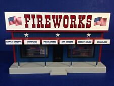 MTH RailKing O Scale FIREWORKS ROAD SIDE STAND w/ box #30-9093