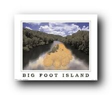 Vancouver Big Foot Island Landscape Scenery Wall Decor Art Print Poster (16x20)