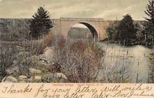 South Keene New Hampshire~Cheshire Railroad Bridge~Branch River~1906 Postcard