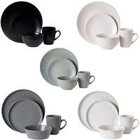 Stoneware Dinner Set 16 Piece Dining Plates Bowls Mugs Tableware Crockery New