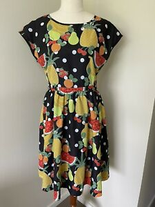 Bea & Dot Size L by ModCloth Retro Style Fruity Dress Fit and Flare