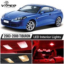 Red Interior LED Lights Package Kit For 2003-2008 Hyundai Tiburon