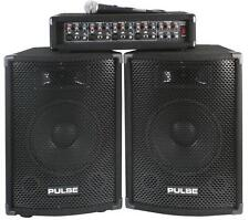 Pulse PMH200KIT 200w DJ PA System Kit Package Speakers & Amplifier + mic/cables