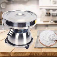 New listing Powder Sieve Vibrating Machine 110V Electric Screen Deck 50 Mesh Stainless Steel