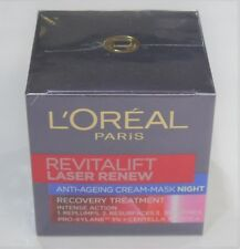 L'OREAL REVITALIFT LASER RENEW Anti-Ageing Cream-Mask Night 50ml BNIB Sealed New