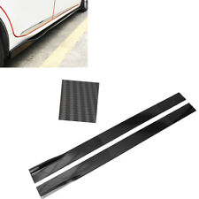 78.7'' Universal Side Skirts Extension Rocker Panel Cover Lip Carbon Fiber