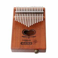 Woodman Mahogany Wood 17 Key Kalimba Mbira Thumb Piano w/ Pickup