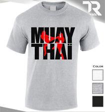 Nueva Camiseta Muay Thai Kickboxing Culturismo Entrenamiento MMA UFC Luchador Lucha superior