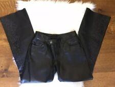 Harley Davidson Black Leather Women's Pants Size 2 EUC