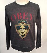 Obey Men's Crew Sweatshirt Finest Quality Charcoal Size L NEW Shepard Fairey