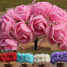 144 Pièces Fleurs Artificielles Mousse Rose Bouquet Floral Mariage Fête