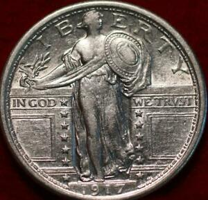 Uncirculated 1917 Type I Phil Mint Silver Standing Liberty Quarter