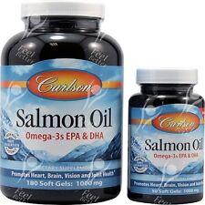 Carlson Labs, Salmon Oil, 1000mg, x180 + 50 Free Soft Gels
