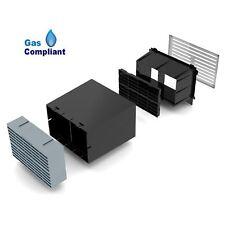"9"" x 6"" Cavity Wall Sleeve Vent with Grey Air Brick  Anti  Air  Ventilator"