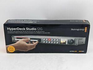Blackmagic Design HyperDeck Studio 12G Broadcast Deck -JL1266