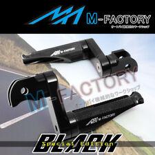 Shinobi Black Adjustable Rear Footpegs 40mm for Suzuki GSXR 1000 01 02 03 04