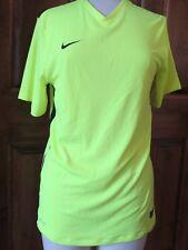 Nike Men's Dri-Fit Tailwind V-Neck Running Shirt-Neon Yellow S