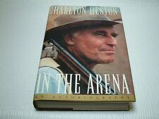 Charlton Heston SIGNED - In The Arena HC/DJ