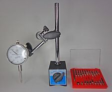 Magnetic Base w/ Dial Test Indicator and 22 Piece Dial Test Indicator Anvil Set