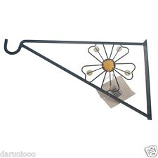 "Garden Hanging Basket Metal Wall Bracket Flower up to 16"" Baskets"