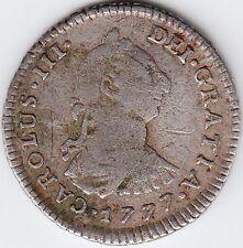 Peru / 1 Real 1777 Limae Mj Carolus Iii ( Charles Iii )
