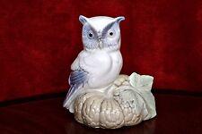 Vintage Miquel Requena Porcelain Figurine 'Owl', Valencia, Spain