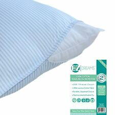 EZ Dreams Travel Size 100% Cotton Pillow Protector: 200 Thread Count, Zippered