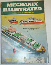 Mechanix Illustrated Magazine Tractor-Trailer Houseboat February 1955 121314R